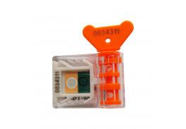 Антимагнитная номерная пломба АМ-ТФ (DUAL), оранжевый
