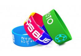 Силиконовые браслеты c вдавленным и прокрашенным логотипом 202х25х2