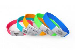 Силиконовые ID браслеты (лазерная гравировка)