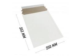 Курьер-пакет В4 250х353 мм из белого картона 390 гр./м2