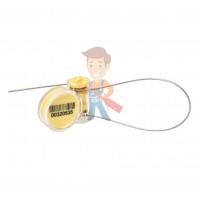Роторная пломба Ротор-2 - Роторная номерная пломба Ротор с тросом 1 мм, 240 мм, желтый