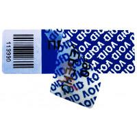 Пломба наклейка номерная НН-2, 22х66 мм - Пломба наклейка тип VOID RED, VOID SILVER, VOID BLUE, VOID CHROME