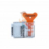 Роторная пломба Ротор-2 - Пломба пластиковая номерная Старт, оранжевый