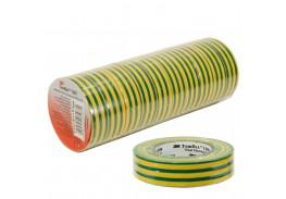 Набор изолент TEMFLEX 1300 универсальная желто-зеленая, рулон 19 мм x 20 м 10 шт