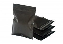 Упаковочные цветные зип пакеты Forceberg HOME & DIY с замком zip-lock 6х7 см, черный, 50 шт