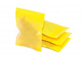 Упаковочные цветные зип пакеты Forceberg HOME & DIY с замком zip-lock 6х7 см, желтый, 50 шт