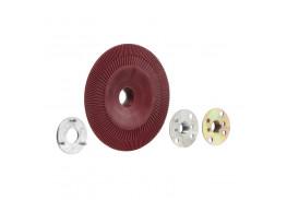 Оправка для фибровых кругов, 125 мм х 22 мм, ребристая