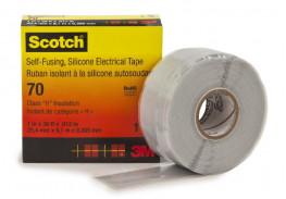 Изолента самослипающаяся силиконовая Scotch® 70, рулон 25 мм х 9 м
