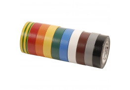 Изолента ПВХ, набор из 10 шт 15 мм x 10 м, TEMFLEX 1300 KIT 15MM