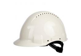 Каска защитная c вентиляцией, стандартное оголовье, УФ индикатор, белая